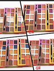 10 Colors Lidschattenpalette Matt Lidschatten-Palette Puder Set Alltag Make-up / Smokey Makeup