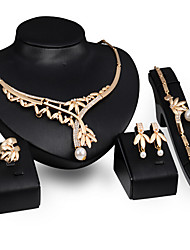 May Polly The explosion of gold necklace earrings bracelets rings set high-end banquet