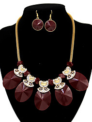 Women's Cute / Party / Casual Gold Plated Choker Necklaces and Earring Set
