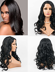 22inch Full Lace Hair Wigs 100% Human Hair Full Lace Wavy Style Human Hair Indian Virgin Hair  Wigs for Women
