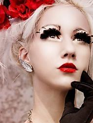 Women's Fashion Metal Angel Wings Single Ear Clip Earrings