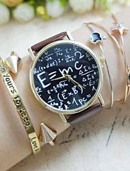 E=MC2 Equation Watch, Vintage Style Leather Watch, Women Watches, Mens Watch, Unisex , Boyfriend Watch