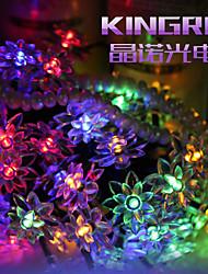 roi ro solaire 19.68ft 30LED lotus fantaisie fête de mariage lumière de décoration de plein air chaîne de lumières imperméables