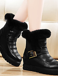 Women's Shoes Synthetic Flat Heel Snow Boots / Creepers Boots Office & Career / Dress / Casual Black / White