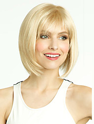 Women's Fashion Short Hair Wig Synthetic Wig with Full Bang