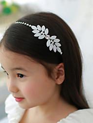 Lucky Doll Women's Elegant 925 Silver Plated Cubic Zirconia Rhinestone Leaf Headband