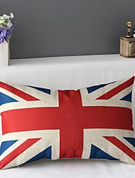 50cm*30cm Union Jack Union Flag Cotton / Linen Cotton&linen Waist Pillow Cover / Throw Pillow With No Insert