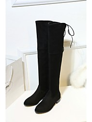 New Autumn Winter Fashion Suede Leather Women Over the Knee Boots Stretch Boots Top Quality Long Boots