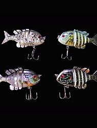 Esche rigide 5 g Oncia , 80 mm pollice 4 pc Pesca di mare , Colori casuali Plastica dura