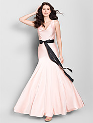 Lanting Ankle-length Jersey Bridesmaid Dress - Pearl Pink Trumpet/Mermaid V-neck