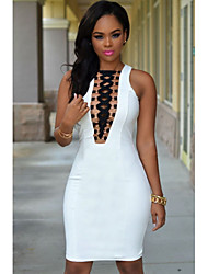 Women's Gold Ring Accent Lace Up Mini Dress