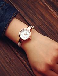 Женские Модные часы Кварцевый Кожа Группа бренд-