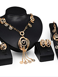 May Polly  Europe exaggerated Necklace Earrings Ring Bracelet Set