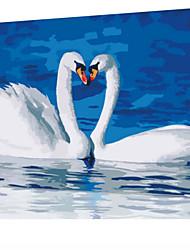 DIY digitales Ölgemälde Frame Familie Spaß Malerei alle von mir lieben x5090