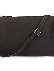 Unisex Cowhide Envelope Shoulder Bag / Satchel / Clutch / Evening Bag - Brown