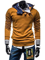 Masculino Sets activewear Casual Cor Solida Poliéster Manga Comprida Masculino