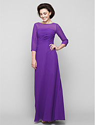 Lanting Bride® A-line Mother of the Bride Dress Ankle-length 3/4 Length Sleeve Chiffon with Ruching