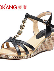 sandálias de couro sintético das mulheres aokang® - 132823885