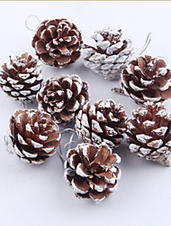 9 PCS Natural Pine Cone Christmas Trees Decoration
