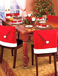 Christmas Party Decorations - 1Piece/Set Piece/Set Chair Sash / Chair Cover CanvasGarden Theme