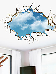 Formas 3D Pegatinas de pared Calcomanías 3D para Pared Calcomanías Decorativas de Pared,Vinilo Material Removible Decoración hogareña