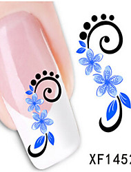 1 PCS 3D Water Transfer Printing Nail Stickers XF1452