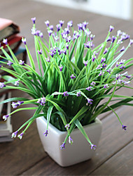 The Star Grass Green Grass Plastic Plants Artificial Flowers