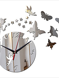 Acrylic DIY 3D Mirror Home Decor Stars Angel Wall Clock Mirror Surface StickerS