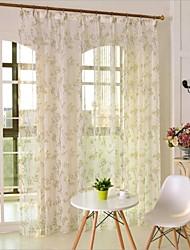dois painéis país floral botânico quarto dos miúdos verdes poliéster pura cortinas shades