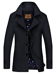 Autumn and winter jacket young men men coat lapels, big yards long cultivate one's morality in cotton