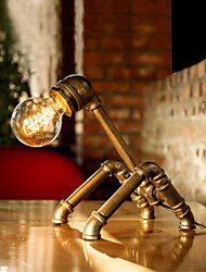 Punk Bar Pipe Desk Lamp American Vintage Office Lamp Art Cafe Pipe Light E27 Desk Light Reading Lighting-FJ-DT2X1-003A0