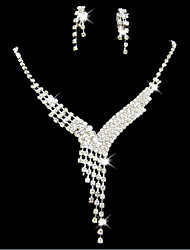 MISS U Women's All Matching Luxury Silver Plated Necklace & Earrings Jewelry Sets