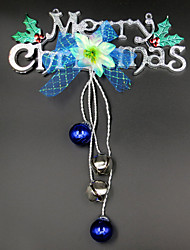 Christmas letters card hanging bell, color random