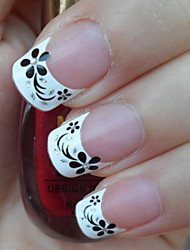 Women's Fashion French Flowers Decal Nail Art Stickers
