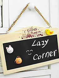 The Rectangle Two-Sided Wooden Message Board