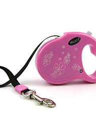 Cat / Dog Leash Adjustable/Retractable / Automatic Flower Blue / Pink Plastic