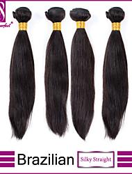 4pcs cheveux brésilienne vierge droite non transformés brésilien extension de cheveux raides armure de cheveux humains à vendre
