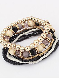 Multi layer Elasticity Alloy Bracelet Chain & Link Bracelets Daily / Casual 1pc