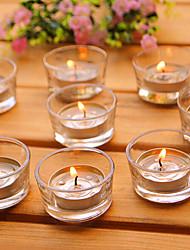 base in vetro semplice candela per matrimonio compleanno confessione regalo del partito (10pcs / set)