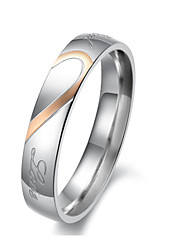 Titanium Steel Ring Couple Rings Wedding / Party / Daily 1pc Promis rings for couples