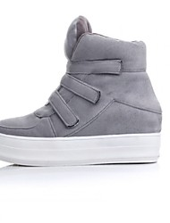 Women's Shoes Leatherette Winter Combat Boots / Bootie / Fashion Boots Outdoor / Casual / Athletic Flat Heel Black / Gray