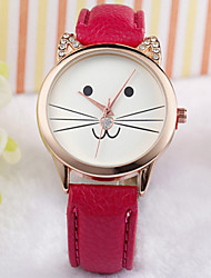 Cat Face Watch Fashion Watch Kitty Watch Watch Cat Jewelry Gift Cool Watches Unique Watches Strap Watch