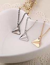 Alloy One Direction Plane Shape  Pendant Necklace