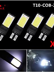 4X best Ultra Bright T10 W5W 194 168 6W LED COB Side Lamp Wedge Light Bulb White 12V
