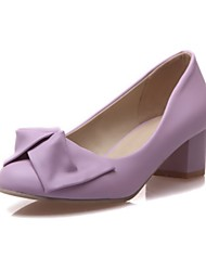 Girls' Shoes Outdoor / Party & Evening / Athletic / Dress / Casual Round Toe Leatherette Flats Blue / Pink / Purple /