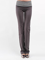 Women's Patchwork / Color Block Gray Active Pants , Casual