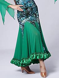 Saias ( Preto / Verde / Roxo , Veludo , Dança Moderna ) - de Dança Moderna - Mulheres