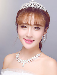 European Wedding/Anniversary/Party/Engagement Jewelry Sets with Crystal and Pearls