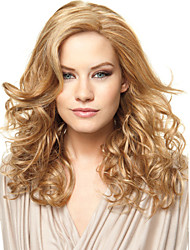 Capless High Quality Pretty Medium Straight Blonde Hair Synthetic Wig