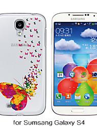 maycari®the válido de borboletas transparente TPU volta soft case para Samsung Galaxy S4 / S5 / S6